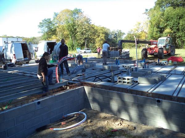 Construction avec plancher hourdis sur vide sanitaire