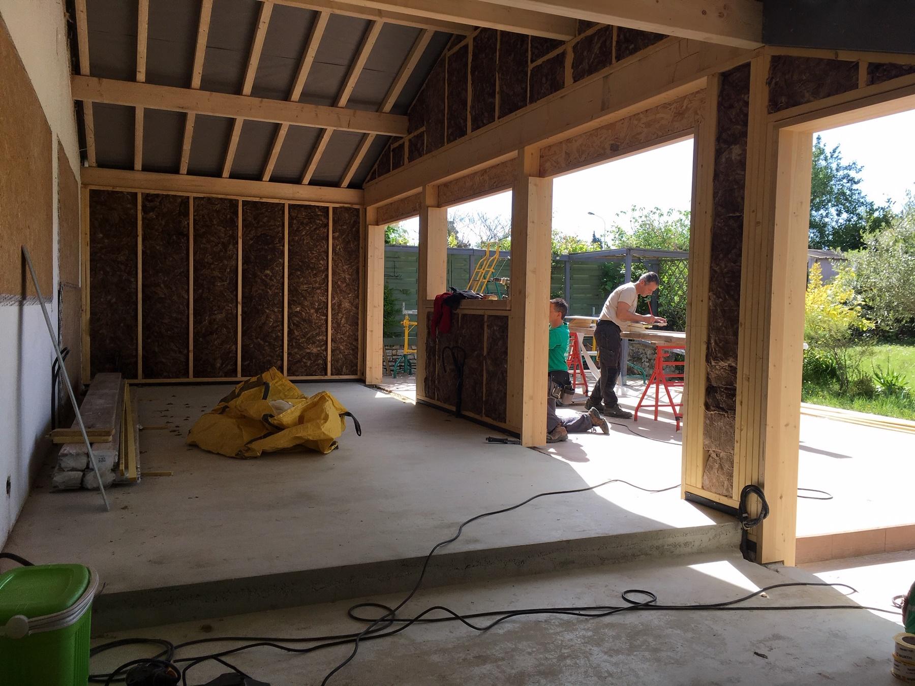 isolation integre dans la structure bois