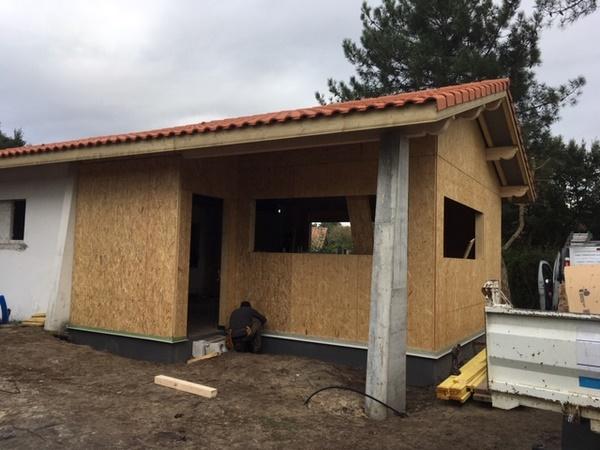 ossature bois renovation et agrandissement