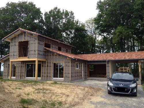structure bois sans le bardage