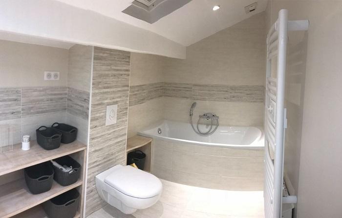 wc et baignoire